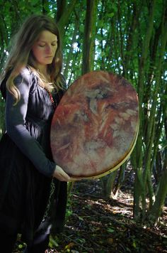 tread gently on the earth: the eco dyed shaman drum