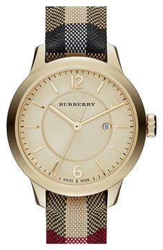 Burberry Leather Strap Watch / To be more luxurious visit www.luxxu.net Be inspired www.luxxu.net #jewelry #jewellerydesigners #luxury fashion, jewellery brands
