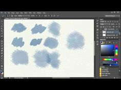 ▶ 3. Watercolor Painting In Photoshop - Brushes and how to use them. Video 3 - YouTube