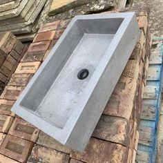 Concrete Basin, Concrete Bowl, Concrete Bathroom, Polished Concrete, Concrete Countertops, Large Planters, Indoor Planters, Trough Sink, Sink Design