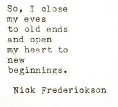 To new beginnings!