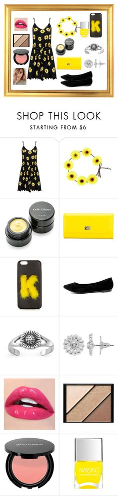 """Sunflower spring"" by vballgirl03 ❤ liked on Polyvore featuring Kari Gran, Dolce&Gabbana, Fendi, Breckelle's, LC Lauren Conrad, Elizabeth Arden and Nails Inc."