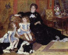 Auguste Renoir: Madame Georges Charpentier and Her Children,(cat is barely visible on her lap | The Metropolitan Museum of Art 1878