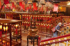 Man Mo Temple in Sheung Wan, HK