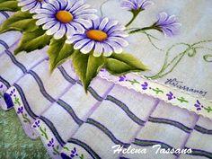 Barrados pintados em tecido