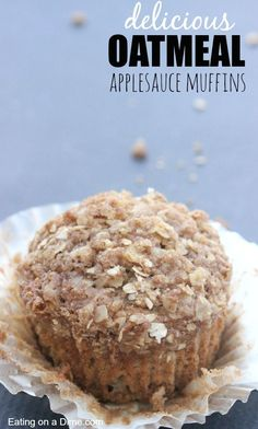 Applesauce Muffins Looking for homemade muffins? Try these delicious oatmeal applesauce muffins that the kids will love.Looking for homemade muffins? Try these delicious oatmeal applesauce muffins that the kids will love. Applesauce Muffins, Oat Flour Muffins, Applesauce Recipes, Baking With Applesauce, Mini Muffins, Breakfast Recipes, Dessert Recipes, Breakfast Ideas, Breakfast Platter