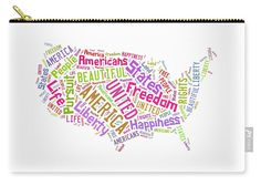 United States Map Art Carry All Pouch.