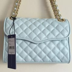 """NWT Auth Rebecca Minkoff Mini Affair in Tranquil NWT authentic Rebecca Minkoff Mini Quilted Affair / Color name """"tranquil"""" / 100% leather / logo fabric lining / magnetic snap flap closure / interior pocket / convertible from shoulder to crossbody / gold-tone hardware / 6"""" high • 8.5"""" long • 2.5"""" deep • 12"""" strap drop (doubled) / care card and original dust bag included / no damages, signs of wear Rebecca Minkoff Bags Crossbody Bags"""
