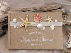 WEDDING GUES T BOOKS burlap/linen