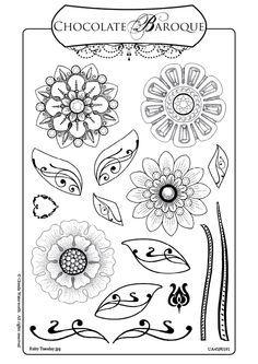 zentangle flowers - Căutare Google