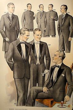 Scans from the J.L. Taylor men's fashion catalog, 1927.