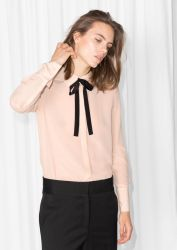 Bowtie Silk Blouse &OTHERSTORIES