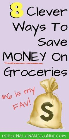 Learn eight totally unique and clever ways to save money on groceries. Reduce your food budget dramatically. Cut the cost of food. Get your groceries on a budget and stop overspending. Money Saving Meals, Money Saving Challenge, Save Money On Groceries, Ways To Save Money, Money Tips, How To Make Money, Frugal Living Tips, Frugal Tips, Frugal Meals