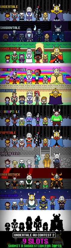 Undertale AU list 2 : Electric Boogaloo MOVED by Toreodere on DeviantArt
