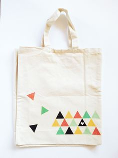 Diy Geometric Printed Tote Bag