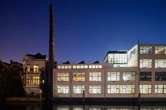 Loft Office is a minimalist space located in Rotterdam, Netherlands, designed by Jvantspijker. Rotterdam, Coffee Table Magazine, Loft Office, Industrial, Antwerp, Office Interiors, Open Plan, Indoor Garden, Beautiful World
