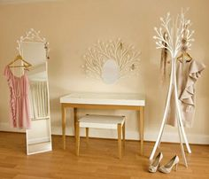 "Furniture company ""Eden"" has launched this beautiful and feminine dressing room furniture set, especially designed for women. Via decoist"