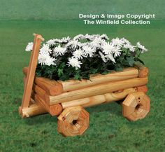 Landscape Timber Wagon Planter Wood Pattern
