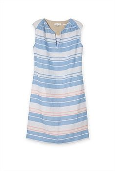 Awning Striped Linen Shift Dress