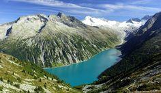 Der Schlegeisspeicher liegt im Zillertal unterhalb der bekannten Olpererhütte.