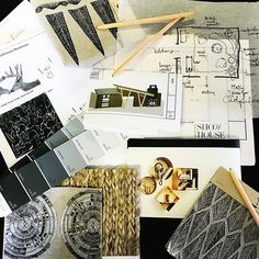 """ON THE BOARDS: @the_decorhater and I are creating a modern-day """"parlor"""" for the Western Design Conference Show House in #jacksonhole Wyoming. Bringing together an assortment of pieces from @benjaminmoore @meridastudio @vladimirkagandesign @coralandtusk_fabric @huntslonem through @diehlgallery @m3ld -- the big reveal is just two weeks away so stay tuned."""