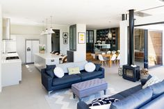 Broadgates Road SW18 : Modern living room by BTL Property LTD