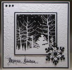 black and white Christmas card - bjl