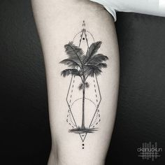 Nature inspired, arm tattoo on TattooChief.com