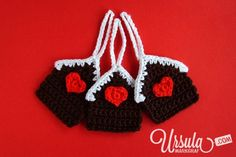 FREE Gingerbread crochet houses gift tags, oh so adorable. Thanks so for this share! xox