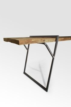 """""""Quadra"""" Table - prototype 2013 by Luis Arrivillaga The designer words: """"Loop stand frame inspired by the geometrical shape that permits an invisible view of a natural static structure. Is designed to conseive a universal table that gives the pos sibility..."""