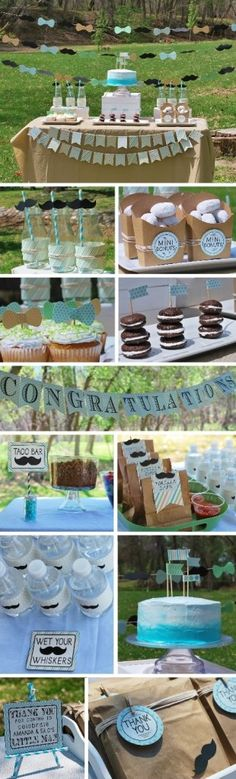 Little Man Baby shower + the DIYs and free printables