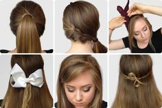 6 Super Easy Hairstyles from CollegeFashion.net