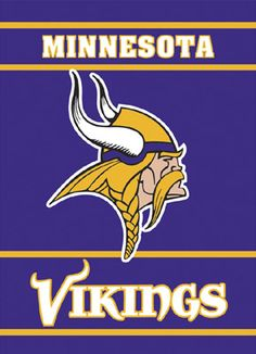images of the MINNESOTA VIKINGS football logos | Minnesota Vikings Premium Banner Flag - BSI