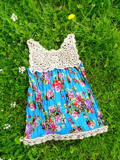 Have you got an old scarf laying around? An odd skein of cotton yarn that you don't know what to do? Well this is what you can turn them into: a lovely summer top with crochet yoke and edging. One of...