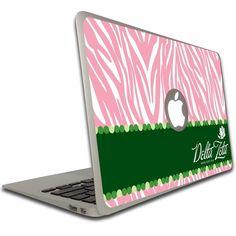 Delta Zeta MacBook Air (11 inch) Vinyl Skin - Pink Zebra Print