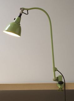 Curt Fischer; #113A Enameled and Nickel-Plated Steel  'Midgard' Table Lamp for Industriewerk Auma Ronneberger & Fischer, 1920s.