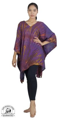Real tie dye poncho in Purple Elegant Woman, Summer Outfits, Tie Dye, Purple, Lady, Clothes, Style, Fashion, Outfits