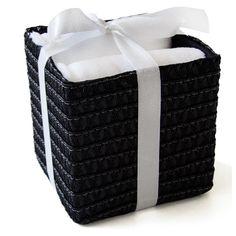 Disponible sur Paris-Prix.com ! Coffret Serviette en Microfibre Noir100x60cm