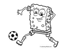 soccer football sport coloring page for kids printable free - Free Sports Coloring Pages