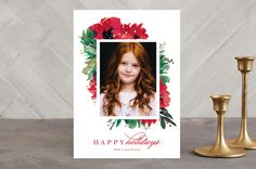 Christmas florals by Lori Wemple at minted.com