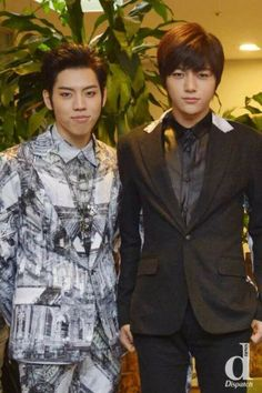 dongwoo myungsoo OMG perfection, dongwoo's hair and suit...