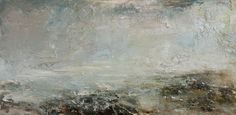 Shore oil on canvas 30cm x 61cm by Dion Salvador Lloyd http://www.dionsalvador.co.uk