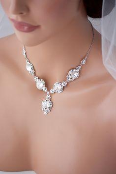 Wedding Necklace Bridal Jewelry Crystal Bride by LuluSplendor