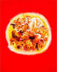 Shining Dog 2010 Oil on canvas 30 x 40cm by Peng Qi 闪耀的狗 2010年 布面油画 30 x 40cm 彭麒