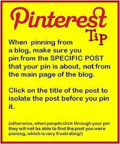 Pinterest tip