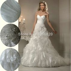 Ivory Organza A-line Hot Sale Designer Wedding Dresses 2013 Beautiful Ruffle Free Shipping $178.00