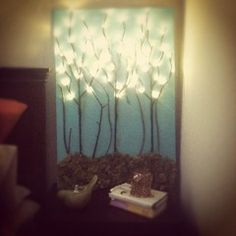 I am thinking about doing this behind the headboard of our bed.....