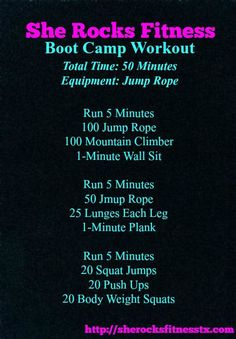 She ROCKS Boot Camp Workout @fitfluential