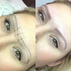 eye shape makeup 543528248777823333 - For victims of the thin, over-plucked eyebrow trend of the 😅, microblading—a form of semi-permanent makeup where ink penetrates the skin to form a thicker eyebrow shape—could be a saving grace. Source by locboss Mircoblading Eyebrows, Sparse Eyebrows, Blonde Eyebrows, How To Color Eyebrows, Threading Eyebrows, Perfect Eyebrows, Drawing Eyebrows, Thicker Eyebrows, Plucking Eyebrows