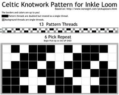 Celtic Knotwork Pattern for Inkle Loom #inkle #draft #weaving